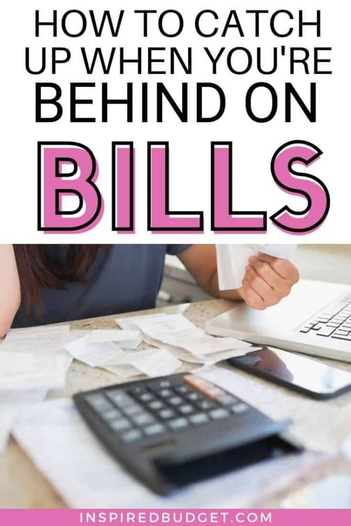 Struggling to catch up on bills? You're not alone! Learn the exact steps you can take to catch up on bills quickly. Follow these 8 steps to help you get ahead and set a budget. Includes a free printable and a script for what to say when you call the bill companies!