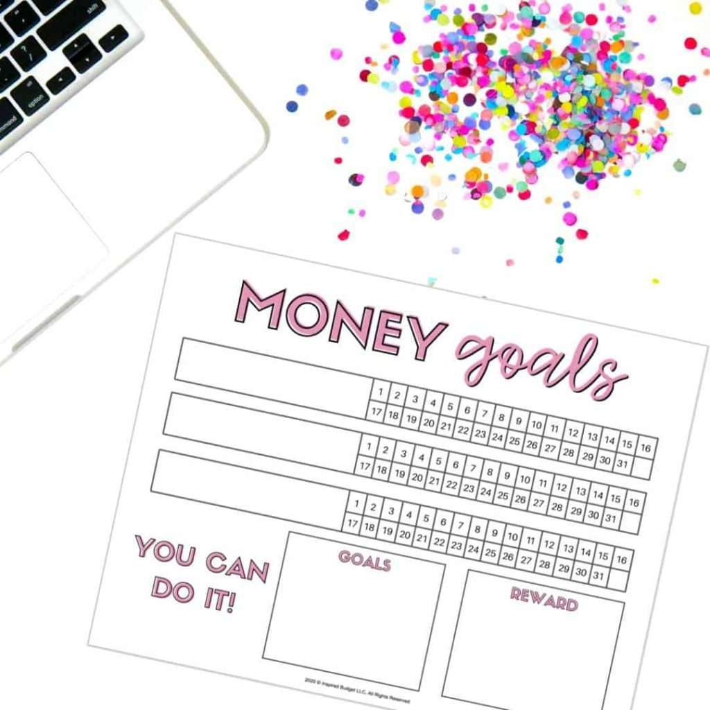 FREE Money Goals Tracker to help you track your daily habits that will lead you to your financial goals!