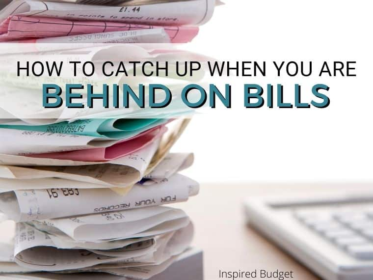 Past Due Bills Printable by Inspired Budget