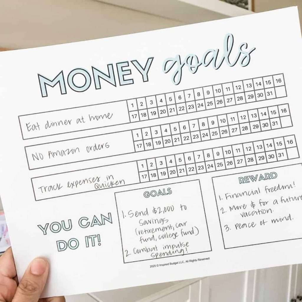 Get your FREE Money Goals Tracker to help you track the everyday habits that will lead you to financial success!