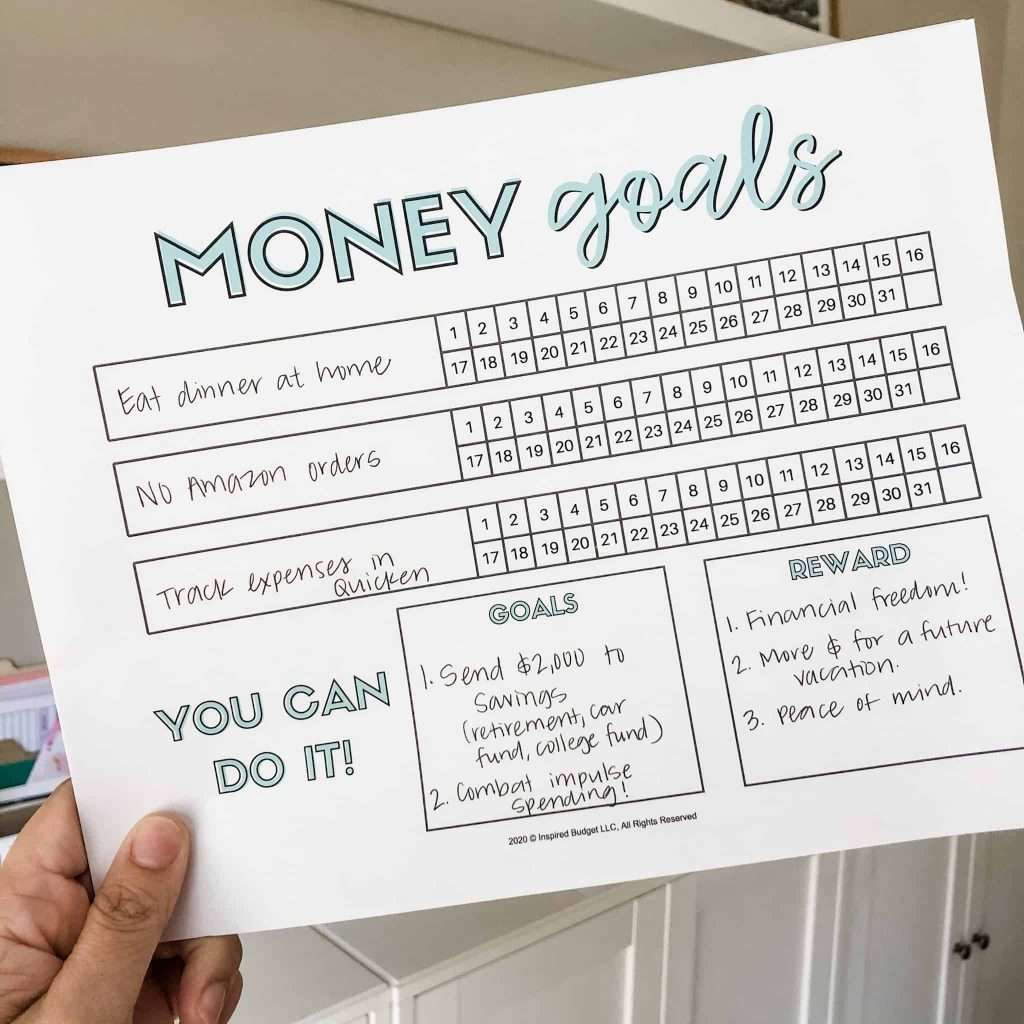 I set 3 money goals and tracked them every day for a month. And here's what happened!