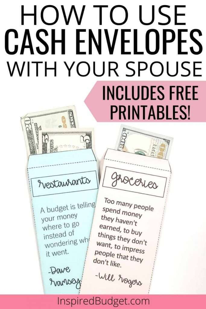 Ready to use the cash envelope system but aren't sure where you and your spouse should start? No worries! Learn exactly how to use cash envelopes with a spouse. Includes FREE printable envelopes so you can get started today!