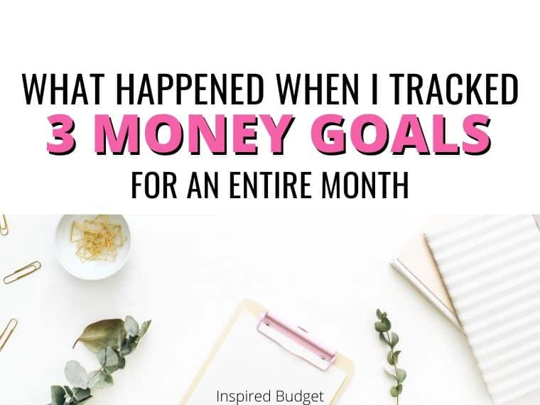 3 money goals