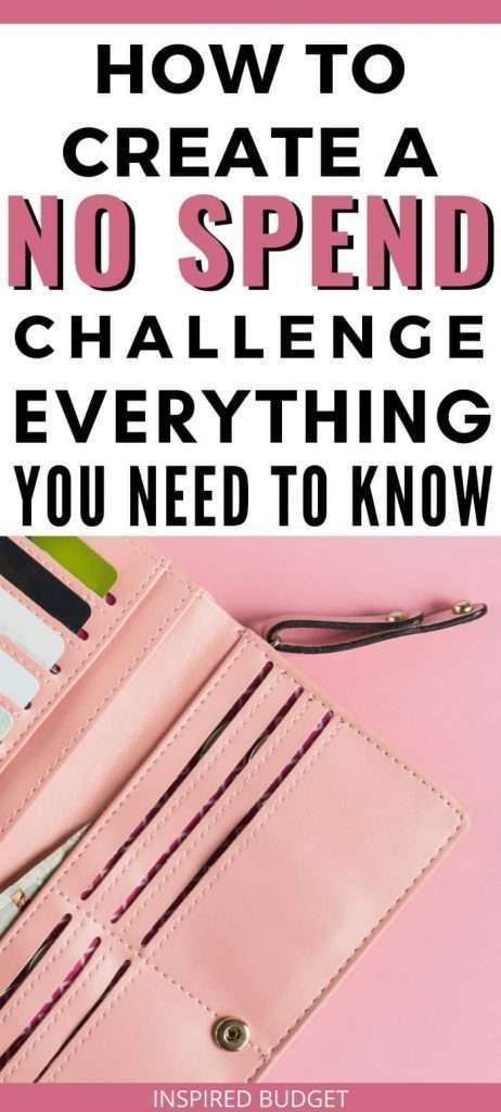Everything you need to know to be successful with a no spend challenge