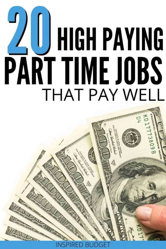 20 High Paying Part Time Jobs That Pay Well