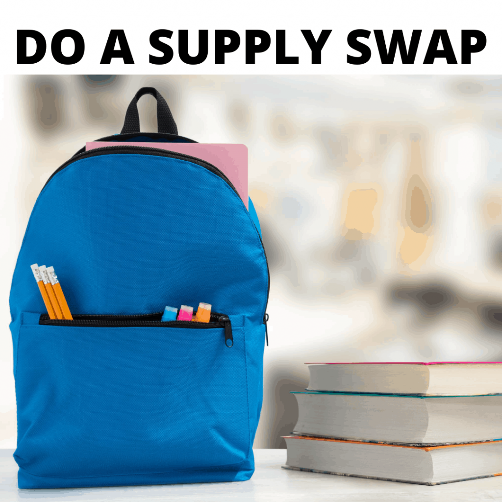 How To Save Money On Back To School Costs - Do a supply swap with friends!