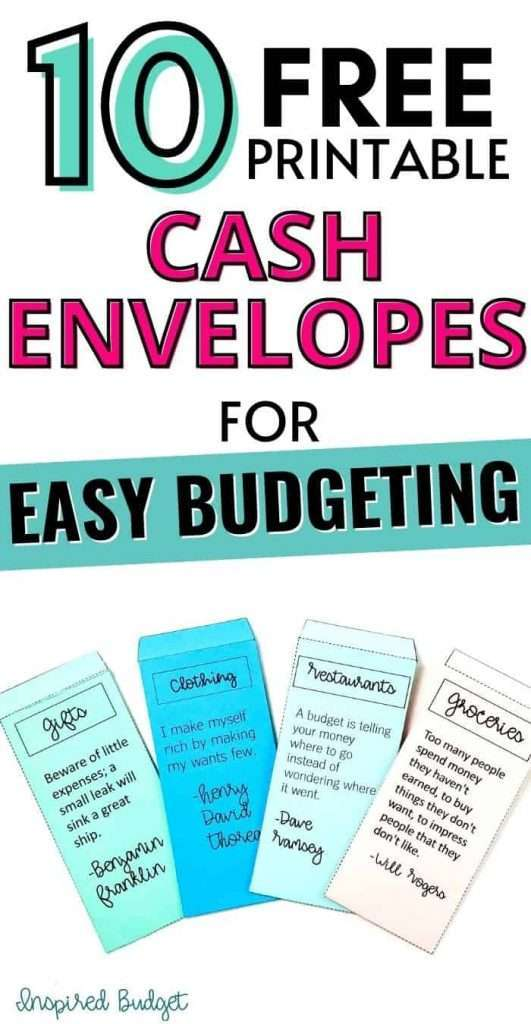 Discover how easy it is to set up your own cash envelope system. Download and print all of these free printable cash envelopes.