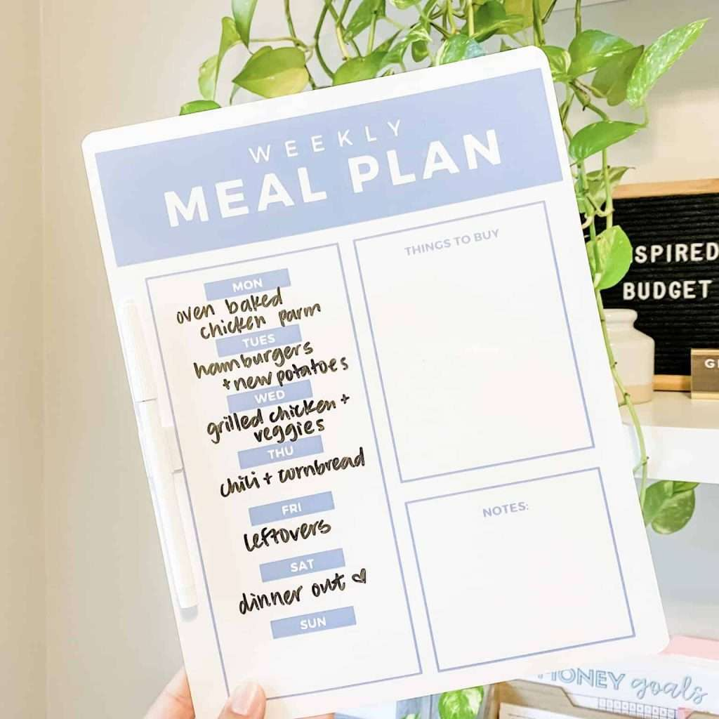 How to meal plan on a budget for 2 people by Inspired Budget