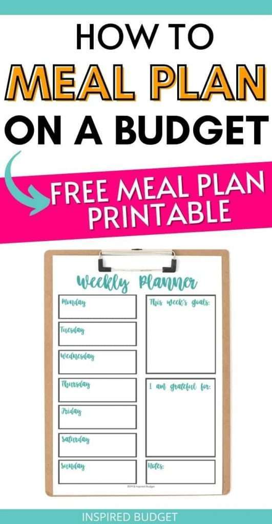 How To Meal Plan On A Budget - An entire guide to writing a meal plan without breaking the bank. By Inspired Budget