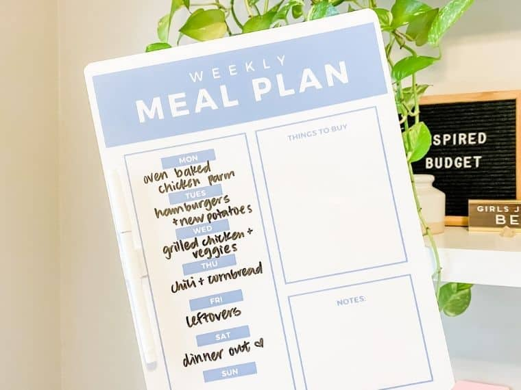 How To Meal Plan For 2 On A Budget by Inspired Budget