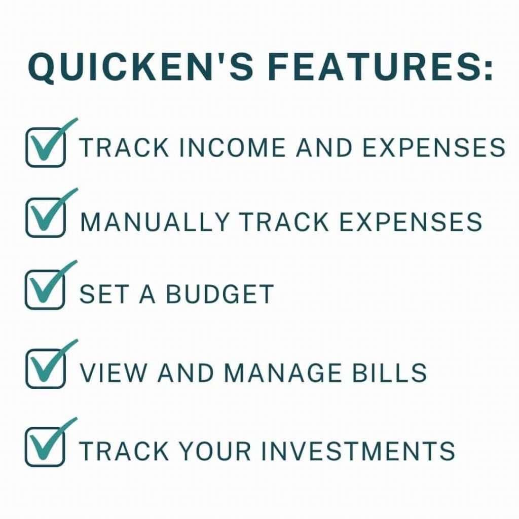 List of Quicken's features
