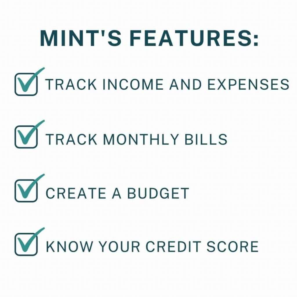 List of Mint's features