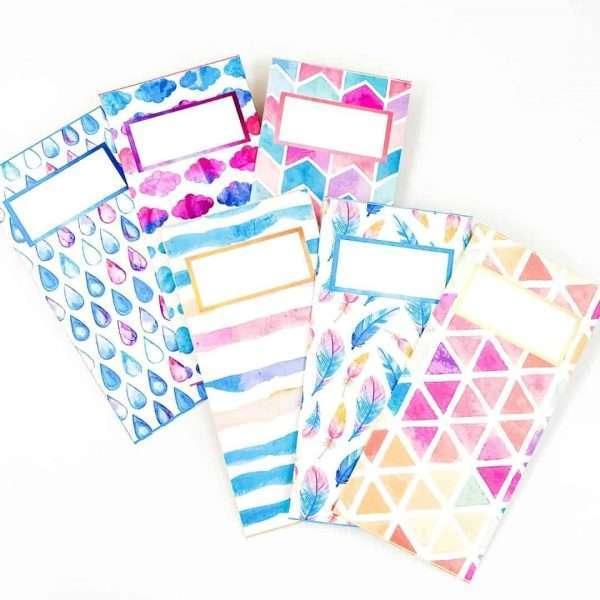Watercolor Cash Envelopes