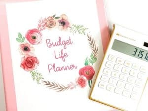 budget binder and calculator
