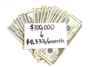 six figure salary