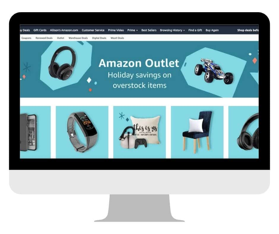 Amazon Outlet On Computer