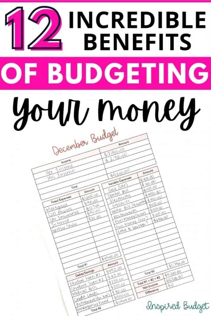 12 Benefits Of Budgeting Your Money
