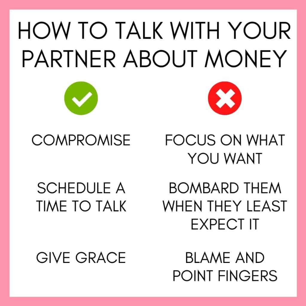 how to talk with your partner about money