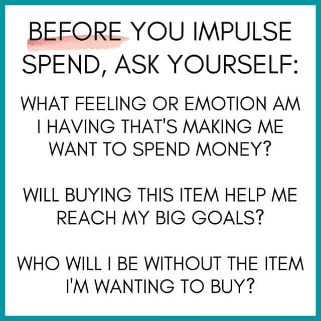 Impulse Spending Questions
