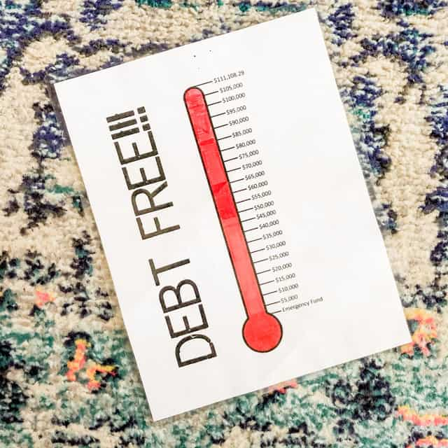 Debt Free Thermometer