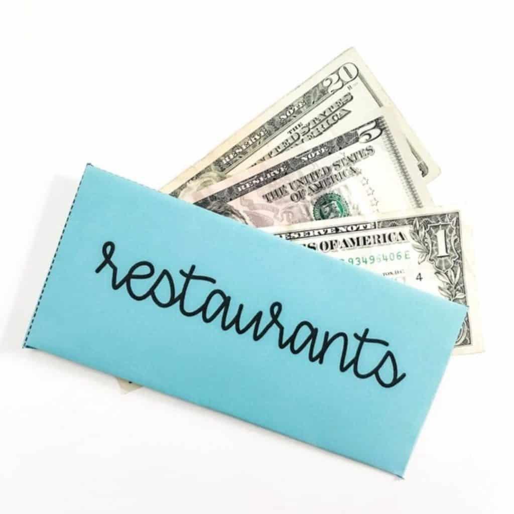 restaurant cash envelope
