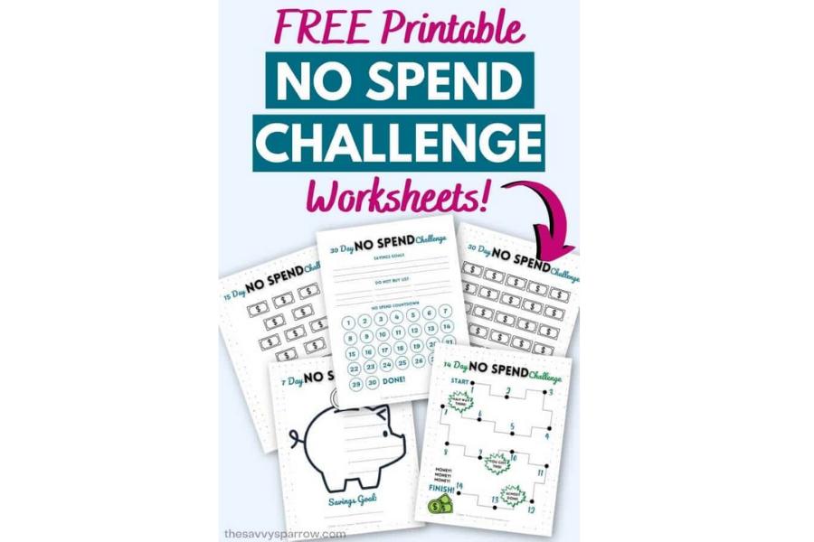 No Spend Worksheets