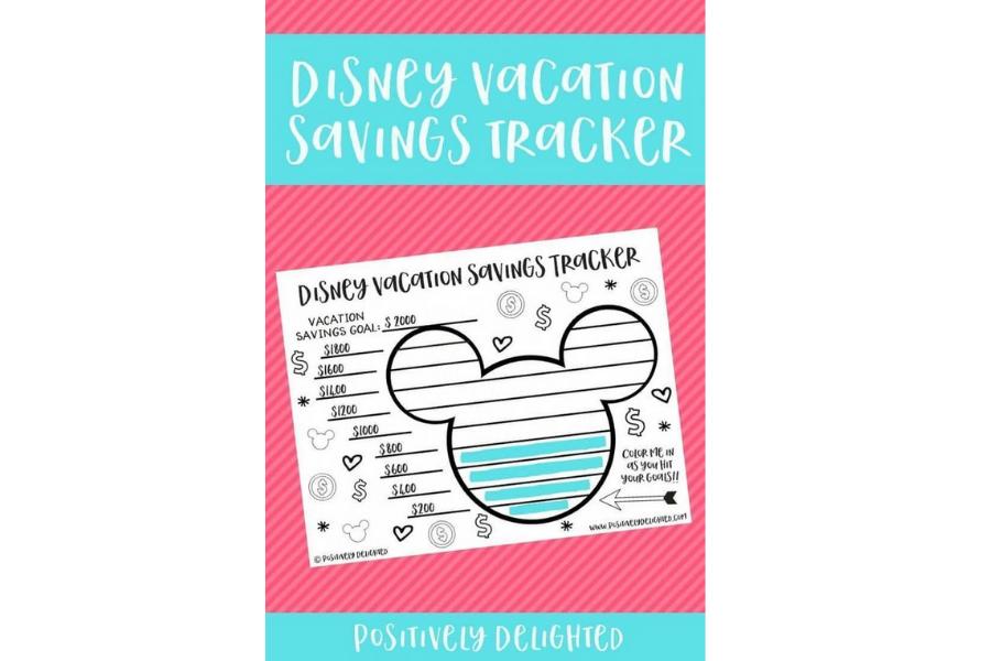Disney Vacation Savings Printable
