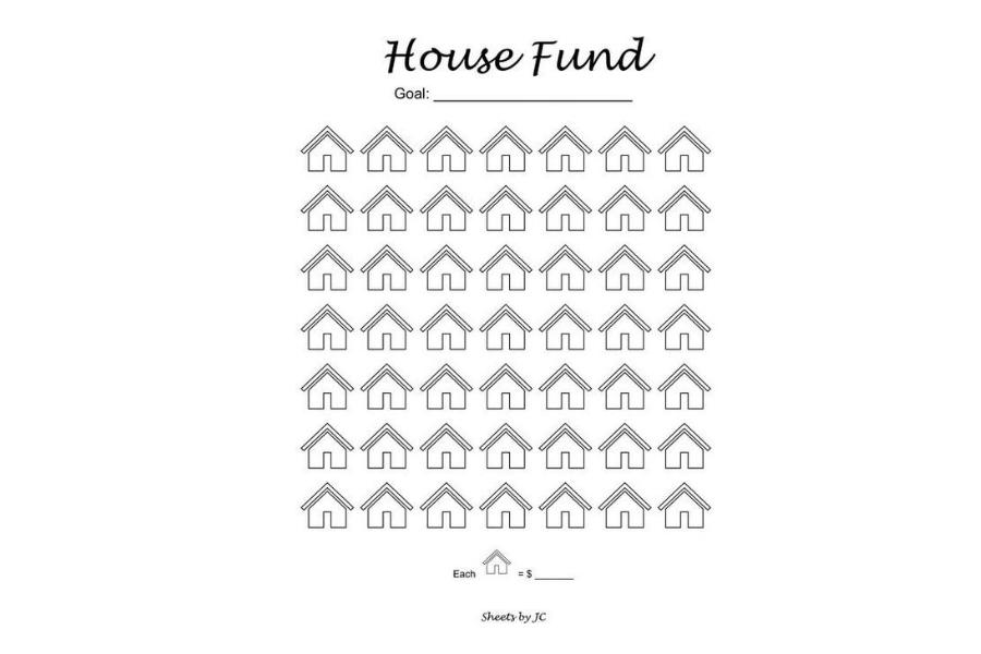 House Fund Money Savings Chart