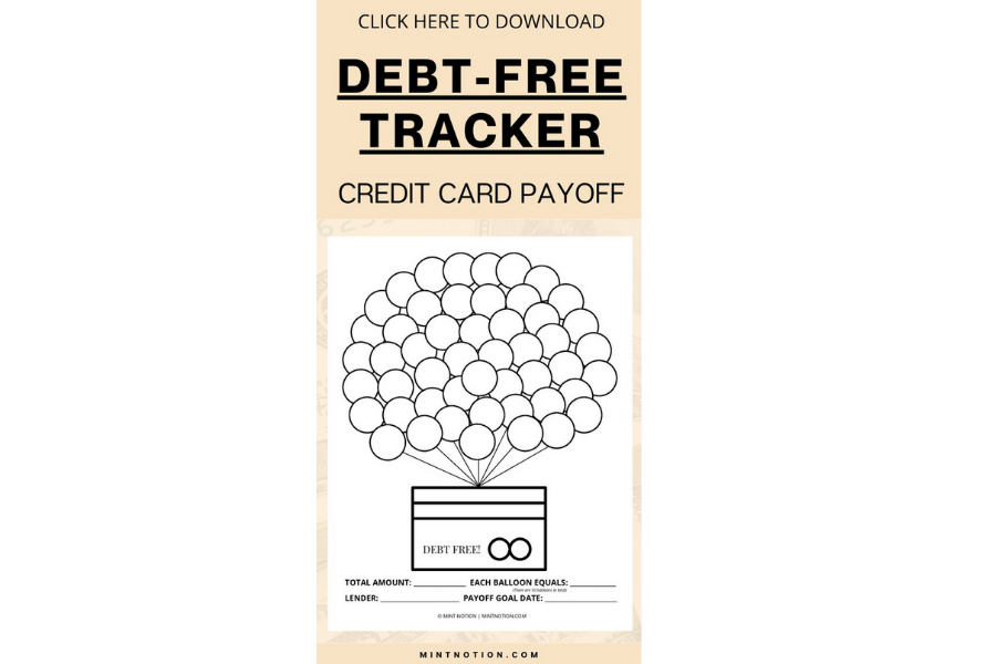Credit Card Payoff Printable