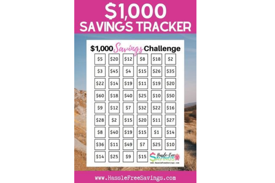 $1,000 Savings Tracker