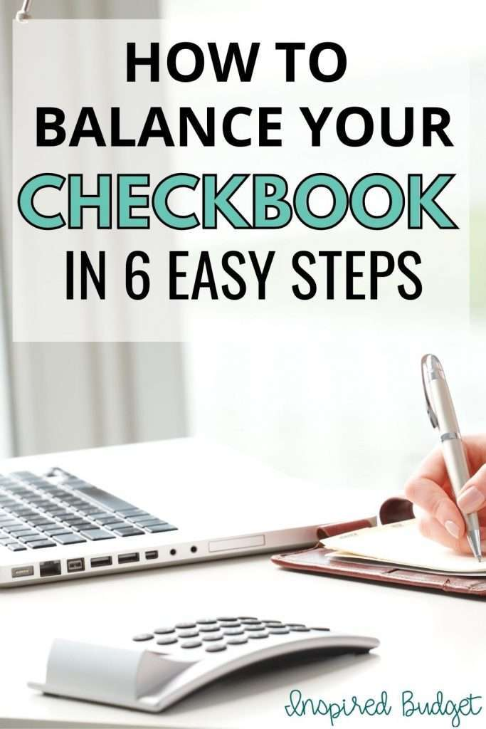 how to balance your checkbook in 6 easy steps