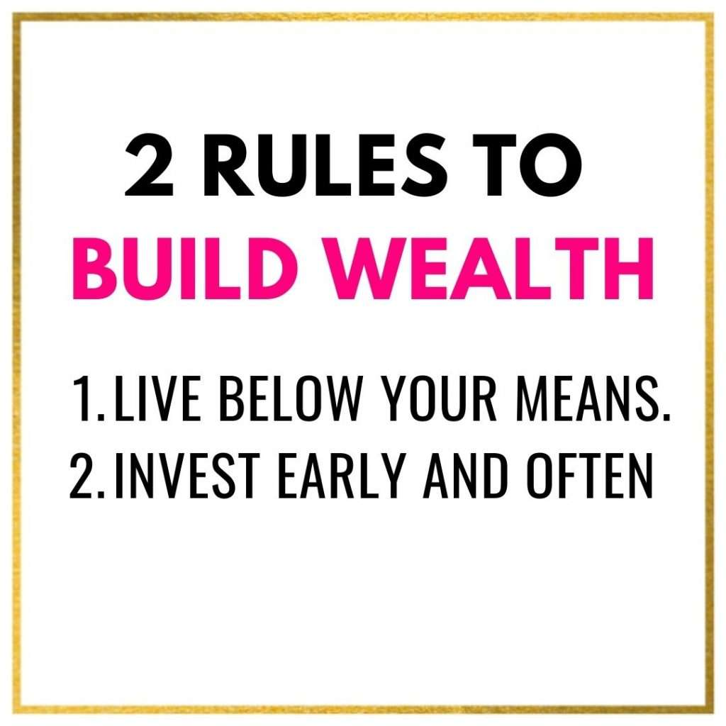 2 Rules To Build Wealth