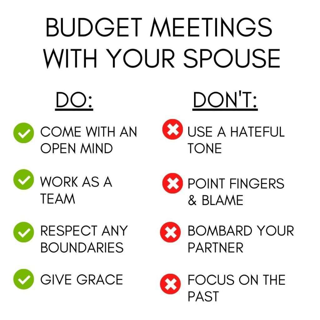 Budget Meetings Do and Don't
