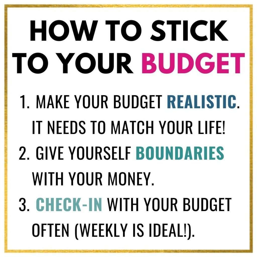 How To Stick To Your Budget Image