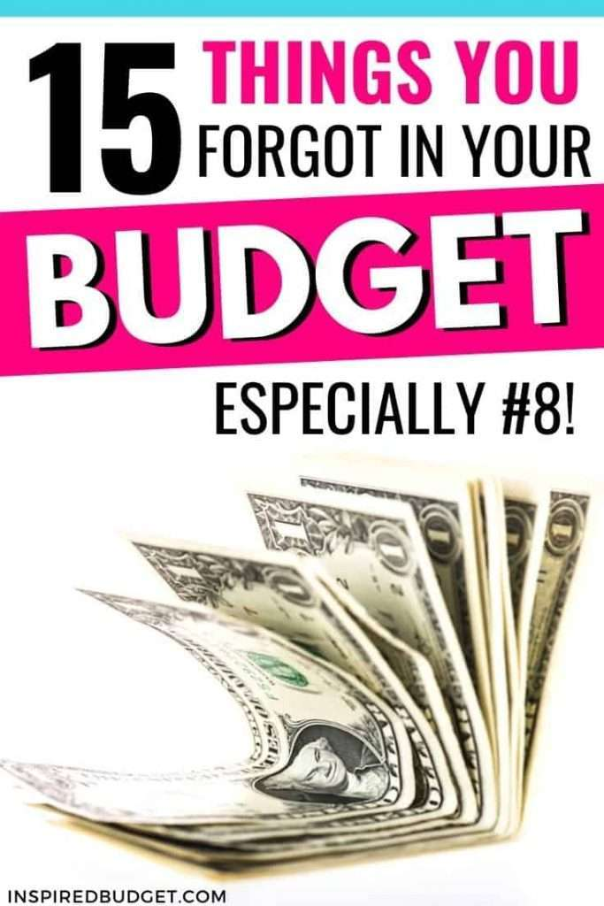 15 Items Missing From Your Budget