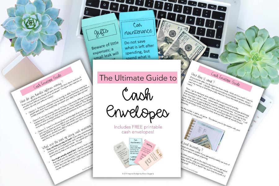 cash envelope guide on desk