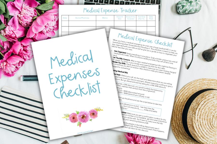 medical expense checklist printable