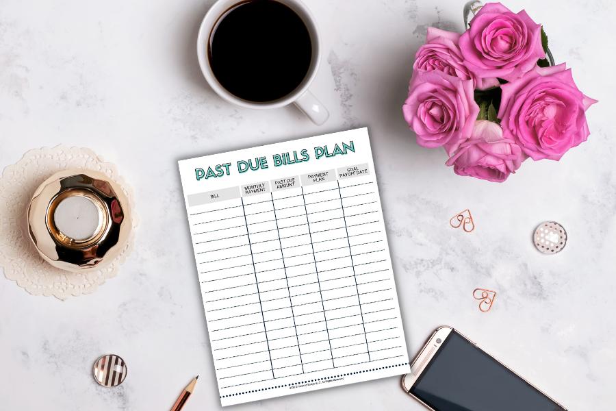 past due bills budget plan
