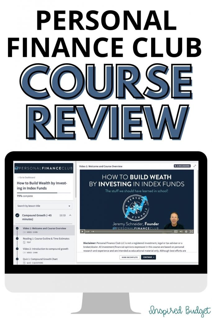 Personal Finance Club Course Review