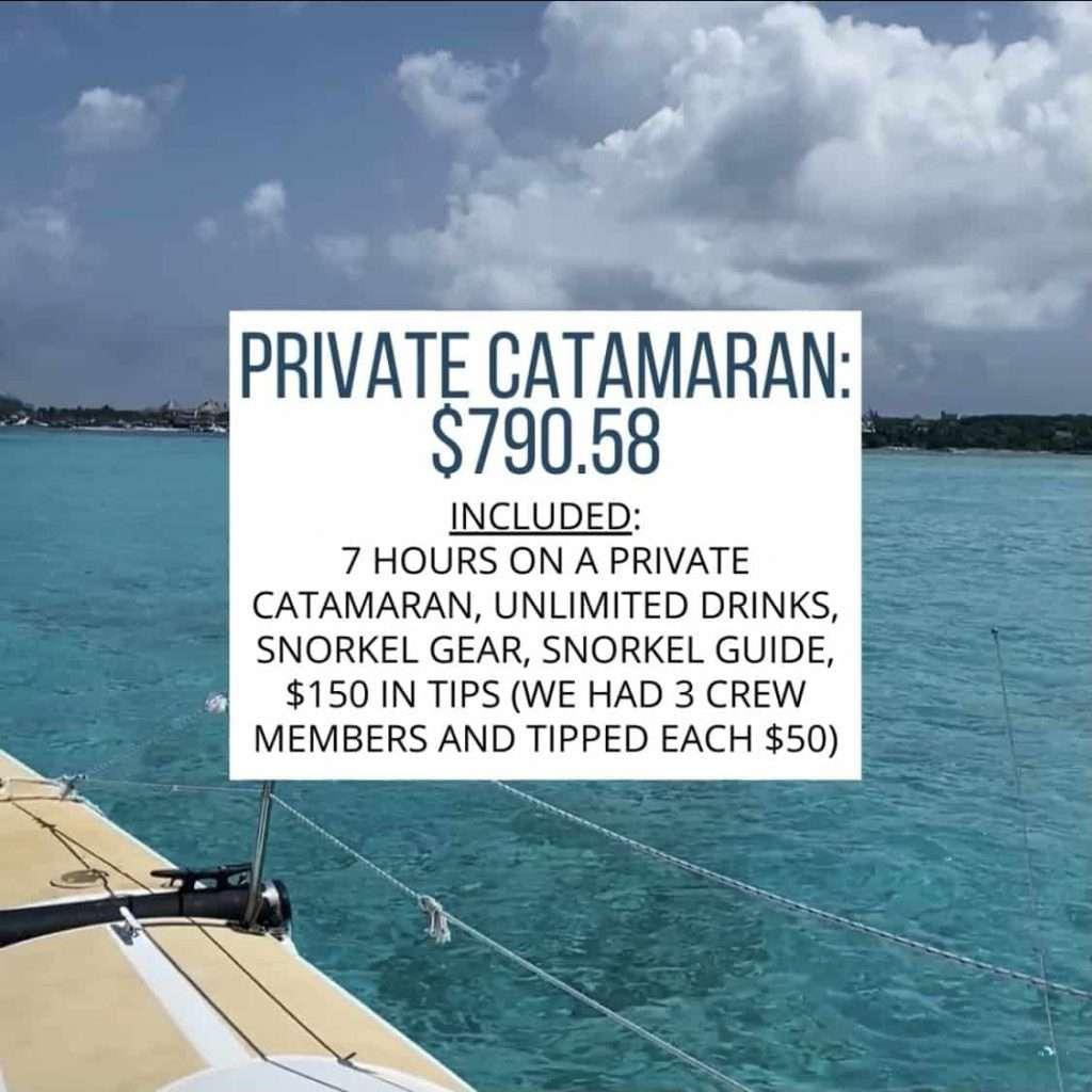 private catamaran cost
