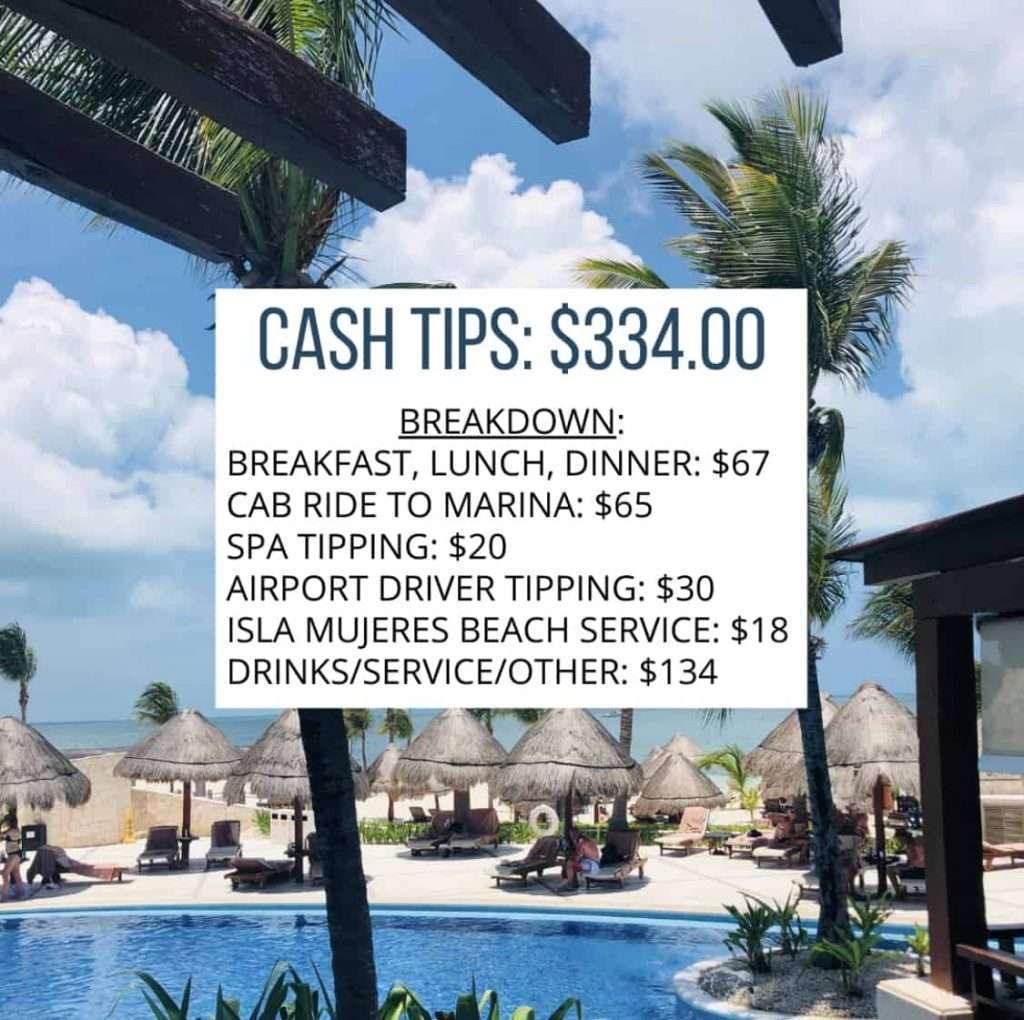 cash tips breakdown