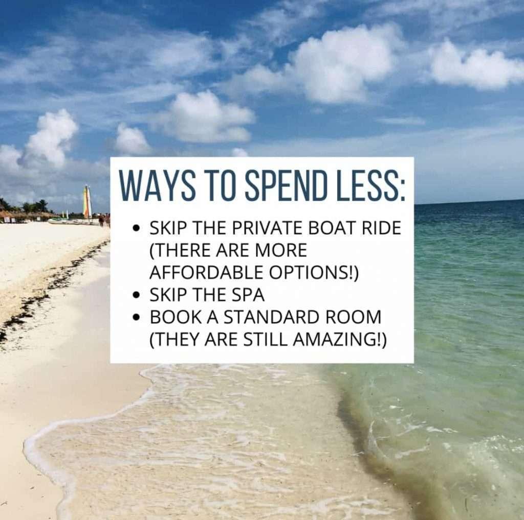 tips on spending less beach background