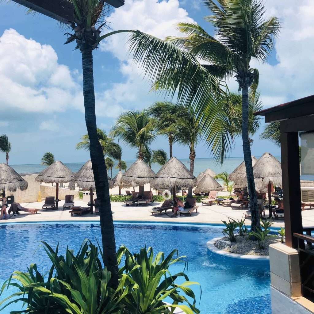 Excellence Playa Mujeres pool and beach