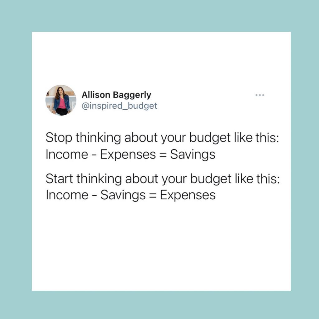 save money first